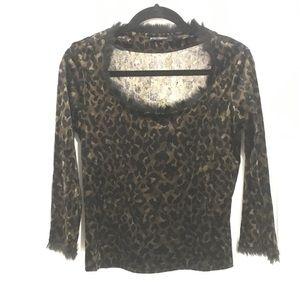 Betsey Johnson velvety fur (faux) top ✨